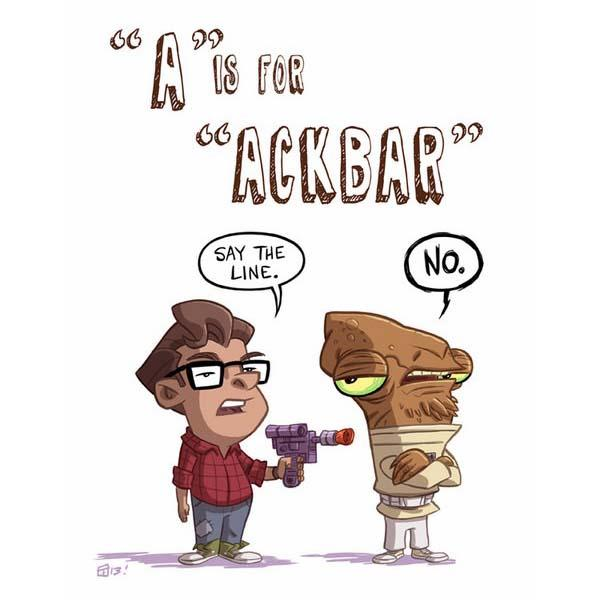 Pretty Cool Geek Alphabet Illustrations Inspired by Pop Culture