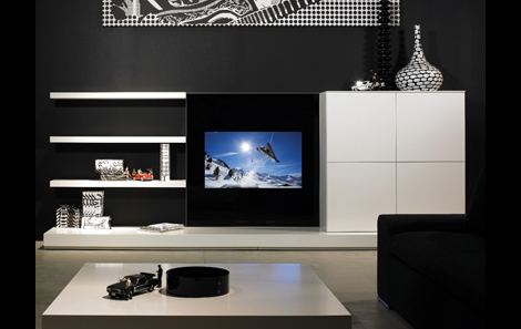 Watch TV With Multimedia Glass Furniture