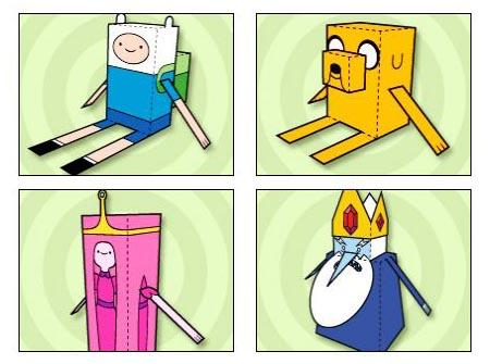 Adventure Time Themed Paper Crafts