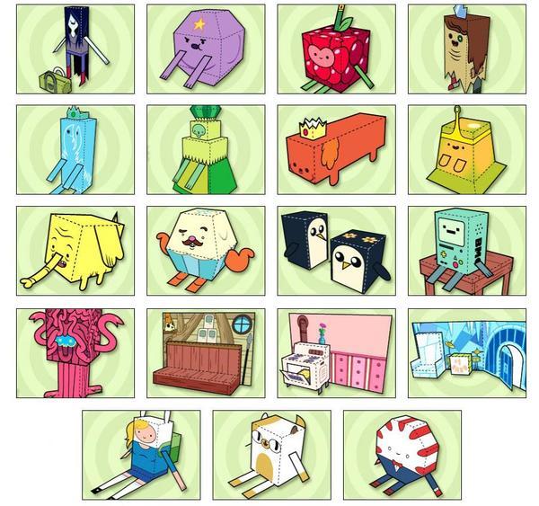 adventure time themed paper crafts gadgetsin