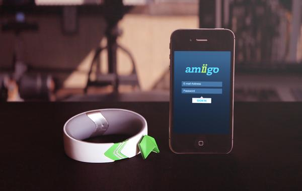 Amiigo Fitness Bracelet for iPhone and Android