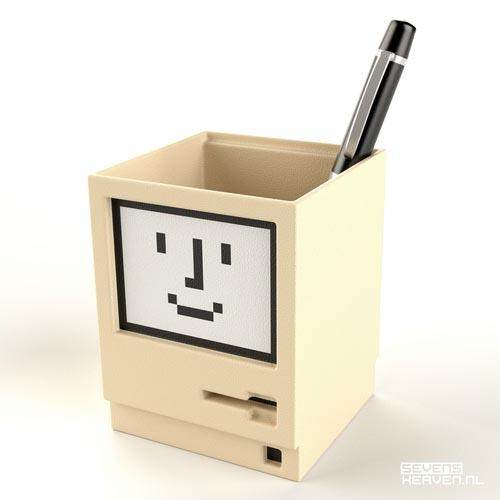 Apple Macintosh Shaped Pen Holder