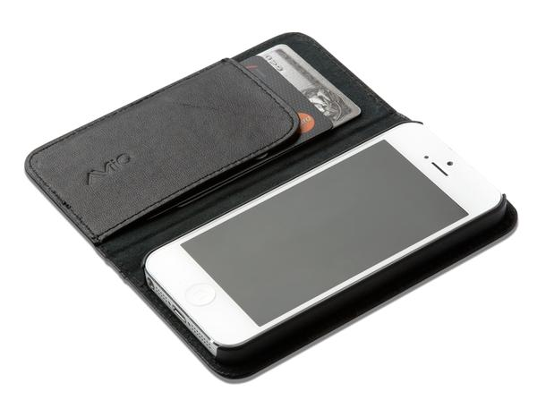 AViiQ Leather Wallet Styled iPhone 5 Case