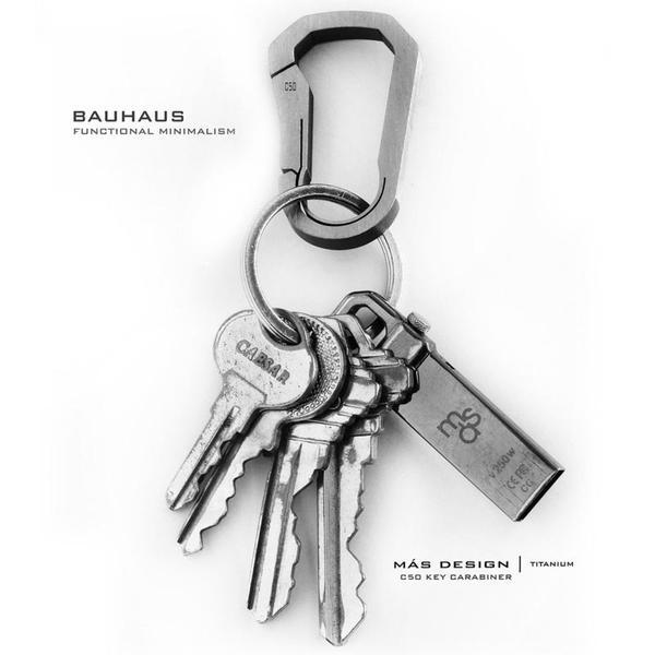 Bauhaus Series Unibody Titanium Carabiners