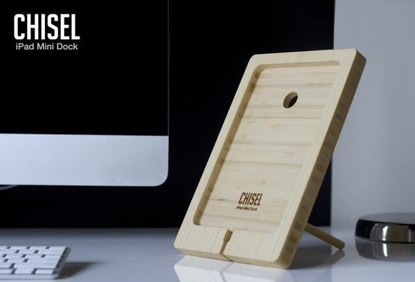 Chisel Wooden iPad Mini Dock