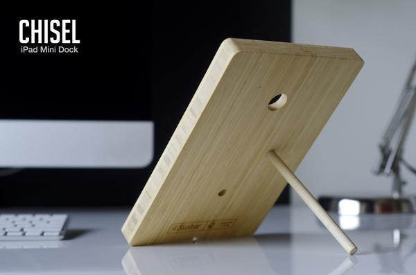 Chisel Wooden iPad Mini Dock