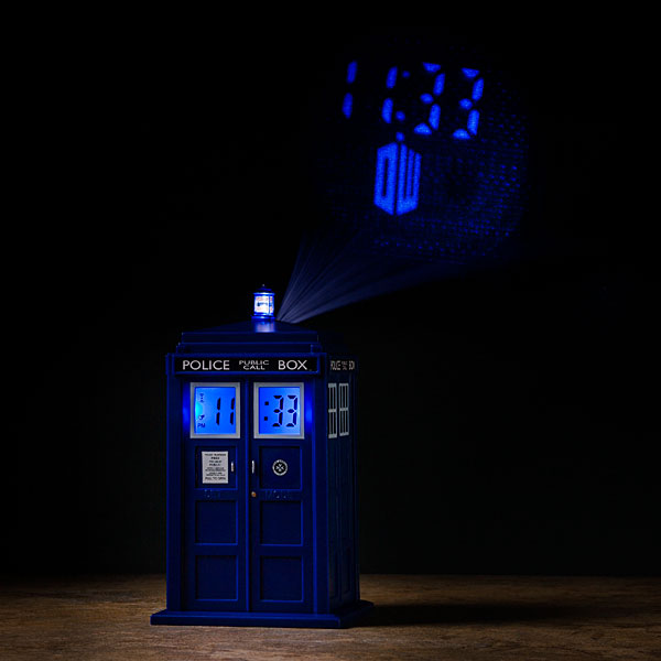 Doctor who tardis projection alarm clock gadgetsin - Tardis alarm clock ...
