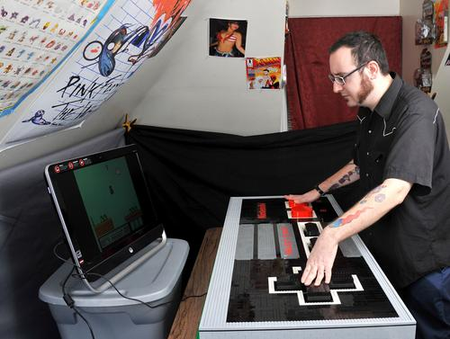 Giant Workable LEGO NES Controller