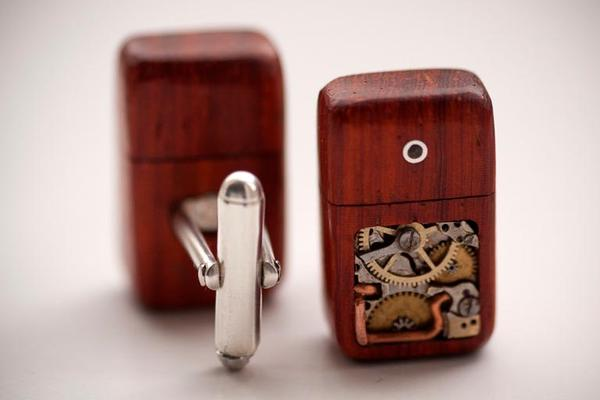 Handmade Mechanical Memory USB Drive Cufflinks