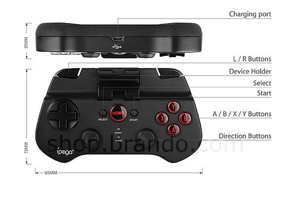 iPega Bluetooth Wireless Game Controller for Smartphones