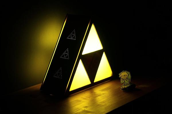 Make Your Own Zelda Triforce Table Lamp