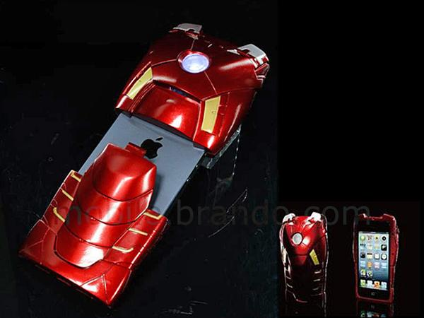 Marvel Iron Man Mark VII iPhone 5 Case with LED Light