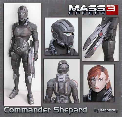 Mass Effect Character Paper Crafts