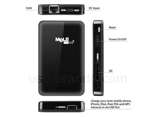 MELE S3 Mobile Network Storage with Backup Battery