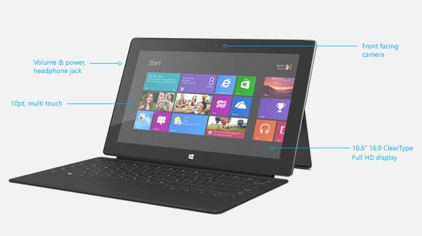 Microsoft Surface Windows Tablet with Window 8 Pro Coming Soon