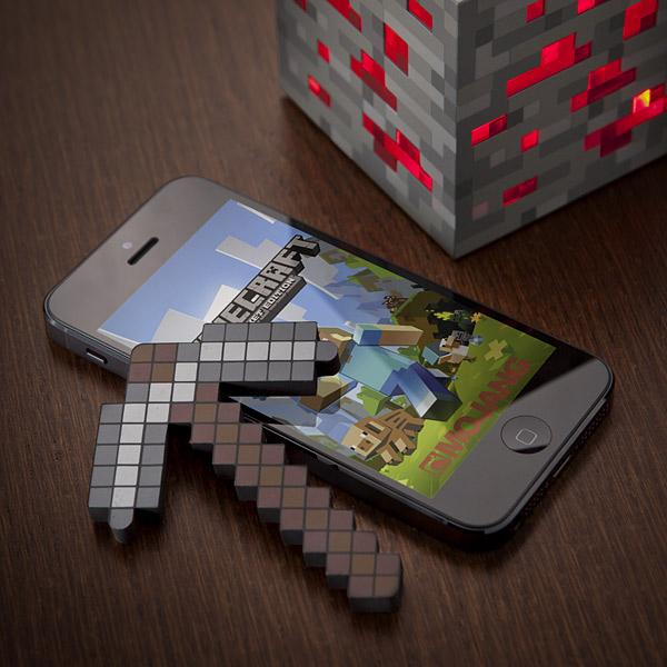 Minecraft Pickaxe Shaped Touchscreen Stylus