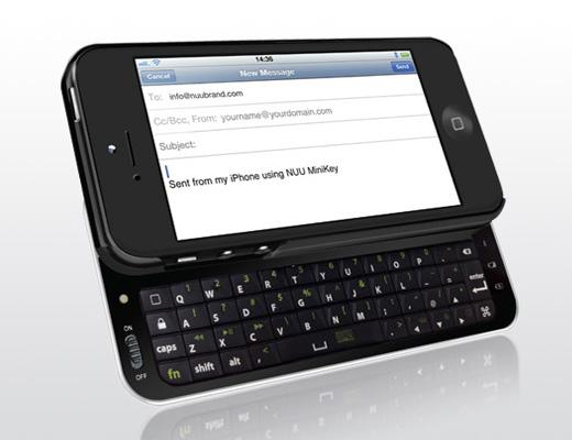 NUU MiniKey iPhone 5 Case with Bluetooth Keyboard