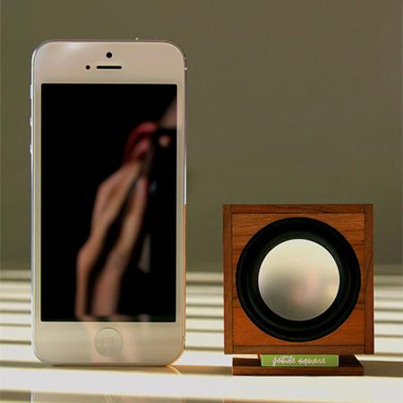 Petite Square Portable Wooden Bluetooth Speaker