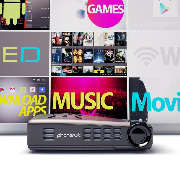 PhoneSuit Lightplay Android Smart Pico Projector