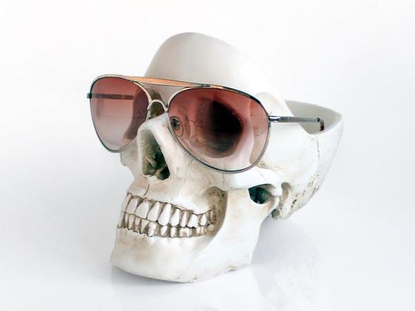 Skull Tidy Desk Organizer