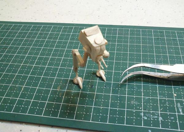 Star Wars AT-ST Mini Model Made with Popsicle Sticks