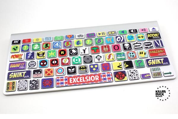 Superhero Themed MacBook Keyboard Skin Set
