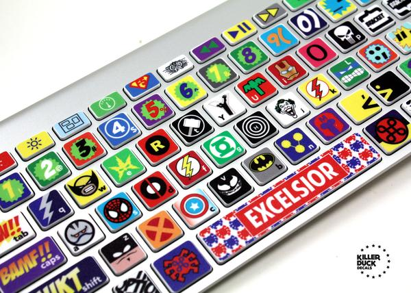 Superhero Themed MacBook Keyboard Skin Set