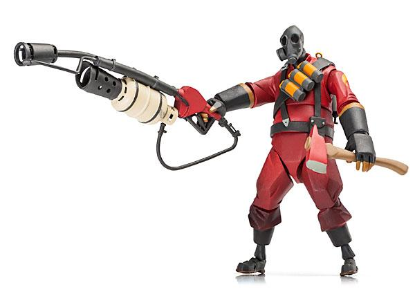 Team Fortress 2 Demoman and Pyro Action Figures
