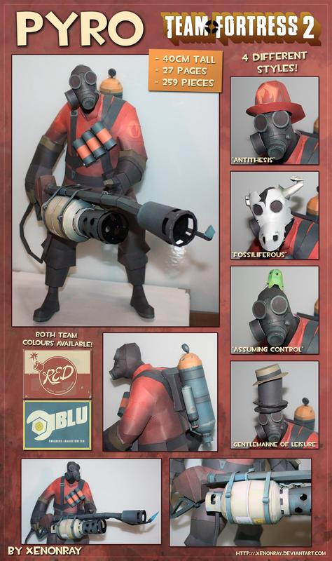 Team Fortress 2 Pyro Paper Craft