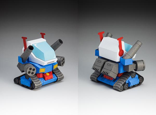 The 5cm Gundam Papercrafts