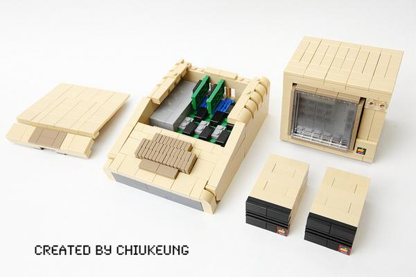 The Apple II Plus Built With LEGO Bricks