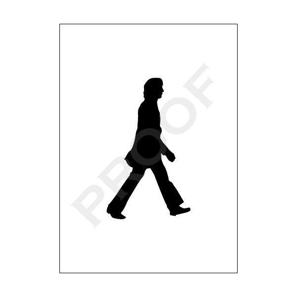 The Beatles Walking Silhouette Art Print Set
