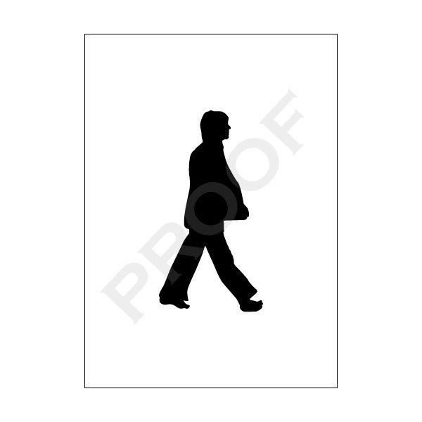 The Beatles Walking Silhouette Art Print Set