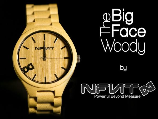 The Big Face Woody Analog Watch