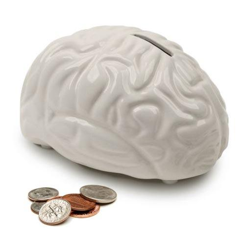 The Brain Shaped Money Bank