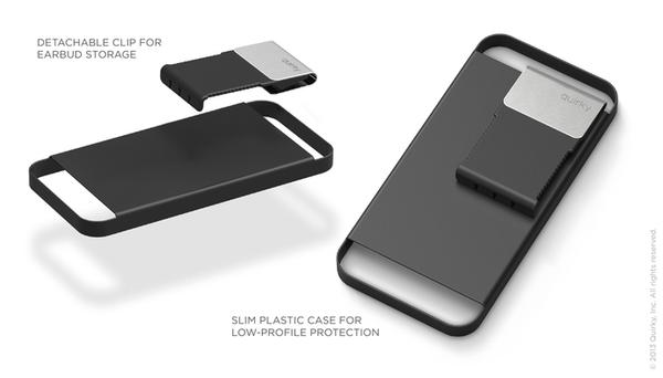 The Cling iPhone 5 Case with Headphone Cord Organizer