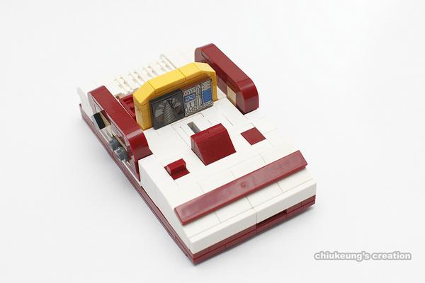 The Famicom Built with LEGO Bricks