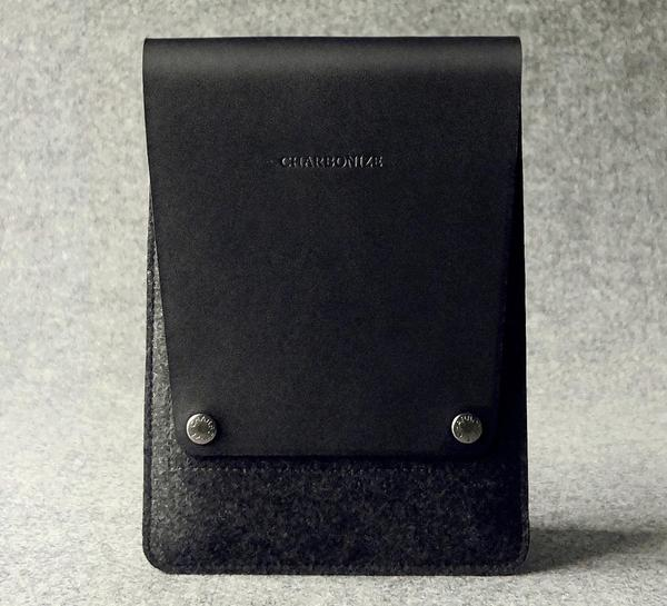 The Handmade Black Leather iPad Mini Case