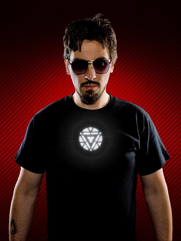The Iron Man 3 Light-Up Arc Reactor T-Shirt
