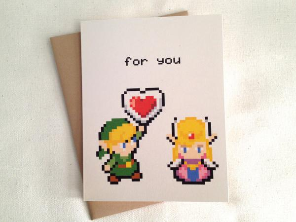 The Legend Of Zelda Greeting Card Gadgetsin