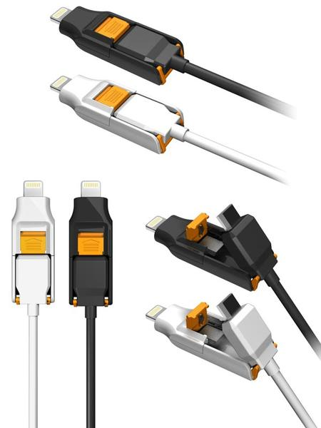 The Orobis Transform Charging Cable for iOS and Android