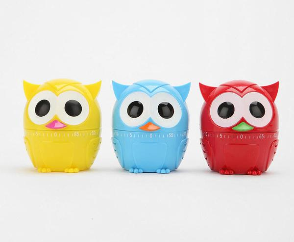 The Owl Shaped Kitchen Timer