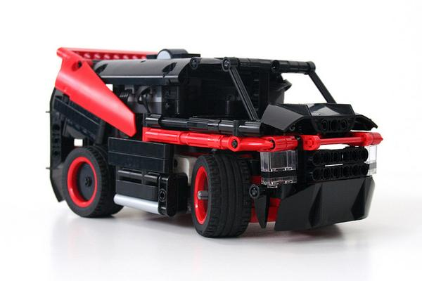 The RC A-Team Van Built with LEGO Bricks