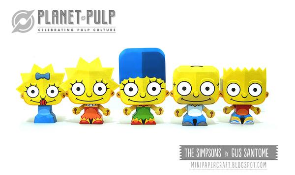The Simpsons Mini Paper Craft