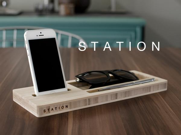 The Station Wooden Desk Organizer