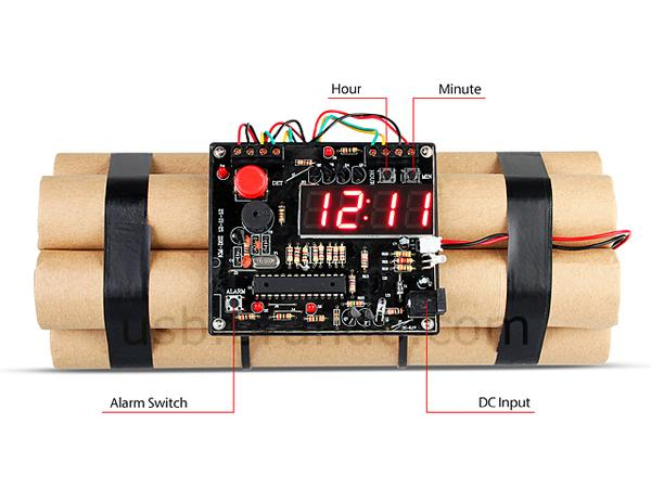 The USB Time Bomb Alarm Clock