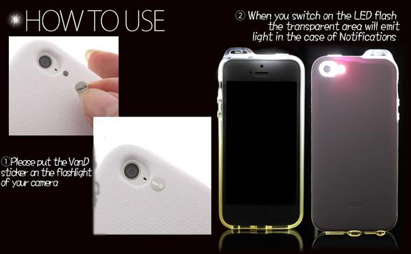 how to make your light flash on iphone 5