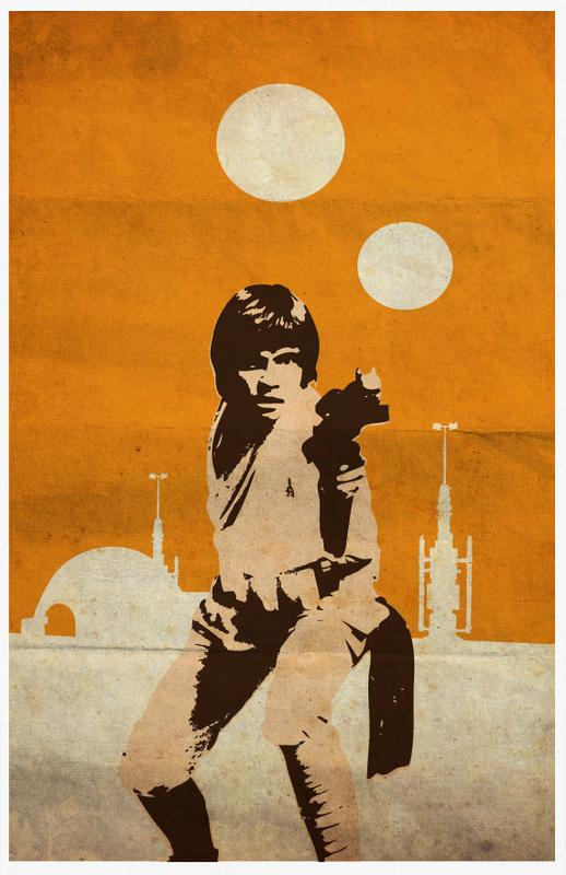 Vintage Pop Art Star Wars Trilogy Poster Set