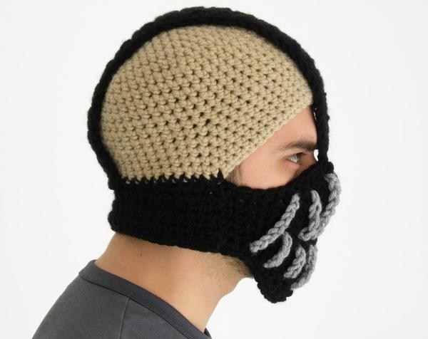 Crochet Beanie : The Batman Bane mask styled crochet beanie hat is available in ...