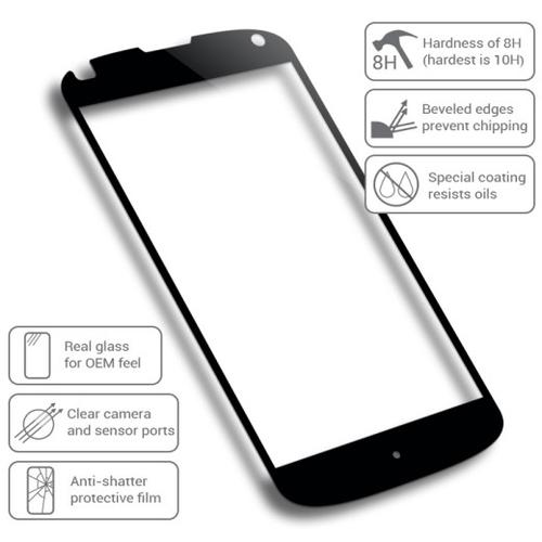 Fantom 4 Tempered Glass Nexus 4 Screen Protector